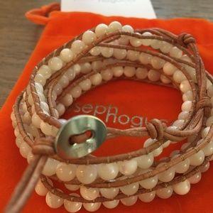 Joseph Nogucci Cream and Tan Colored Wrap Bracelet